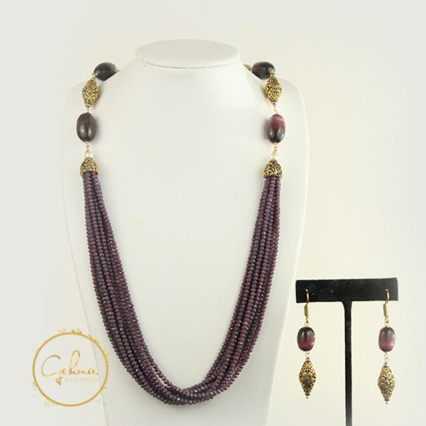 Fancy mala set - Purple