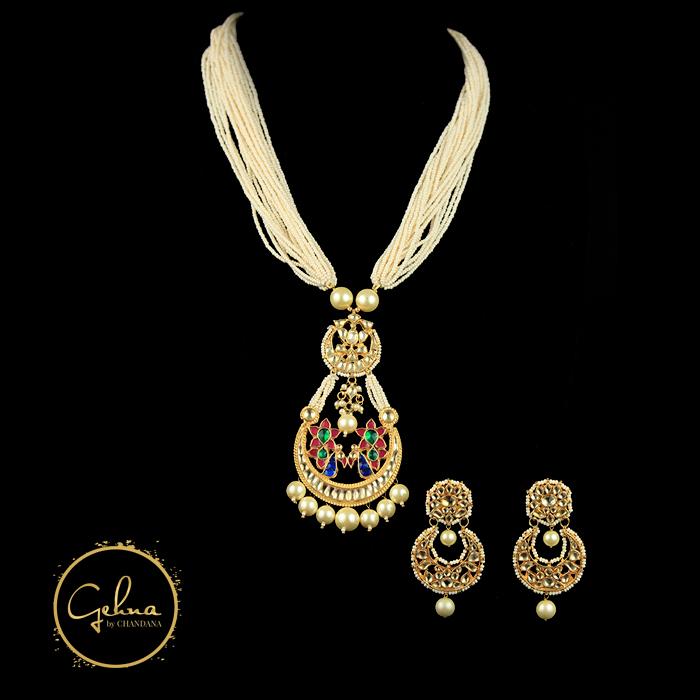 Seed pearl mala with bali pendant