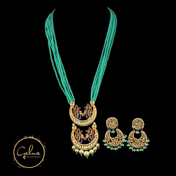 Firoza mala with Bali pendant