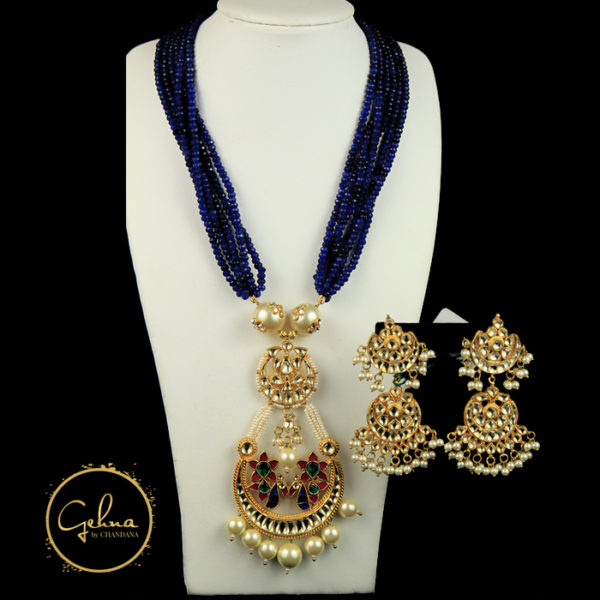 Blue Onyx mala with pendant